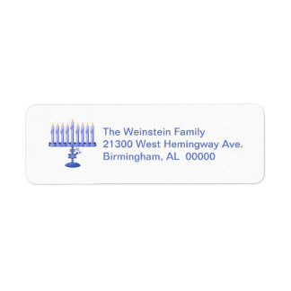 Menorah Return Address Label