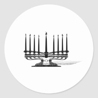 Menorah Round Sticker