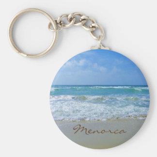 Menorca Beach Souvenir Keychain