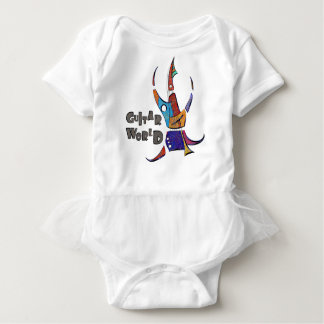 Menossium - guitar world baby bodysuit