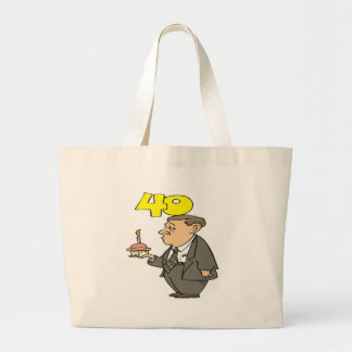 Mens 40th Birthday Gifts Large Tote Bag