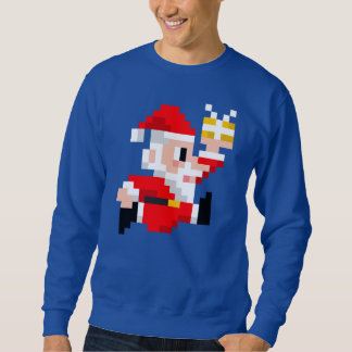 Men's 8-Bit Santa Claus Ugly Christmas Sweatshirt