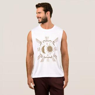 Men's active wear sun and moon design. tank top