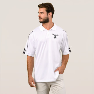 Men's Adidas Activewear Polo Weightlifting Logo