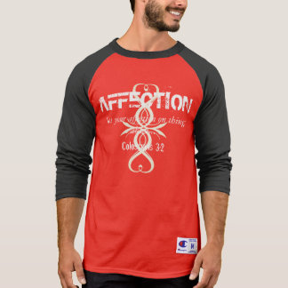 Mens AFFECTION Col. 3:2 Bible Verse Cross L/S Tee
