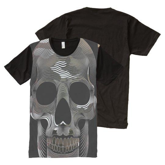 Mens All over 3D Camo Skull tee