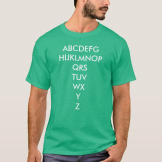 Men's alphabet t-shirt
