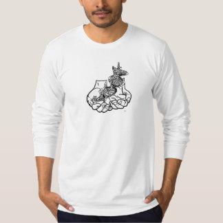 Men's American Apparel Fine Long Sleeve T white T-Shirt
