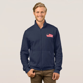 Men's American Apparel Flag Fleece Zip Jacket