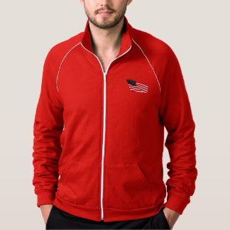 Men's American Apparel Patriot Fleece Track Jacket
