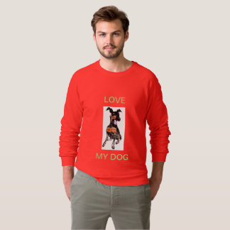 MEN'S AMERICAN APPAREL RAGLAN SWEATSHIRT - DOG