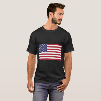 Men's American Flag Basic Dark T-Shirt