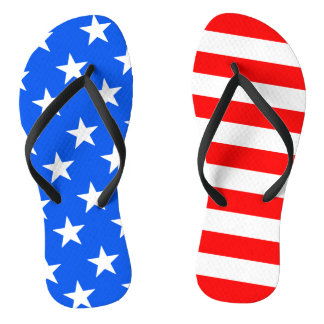 Men's American Flag Flip Flops