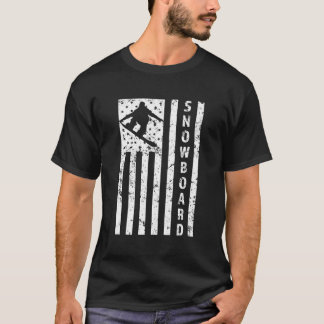 Men's American Flag Snowboarder T-shirt