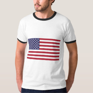 Men's Americana Flag Basic Ringer T-Shirt