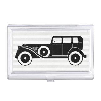 Men's Antique Car Limousine Monogram Business Card Case