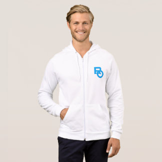 Mens apparel full zip fleece hoodie