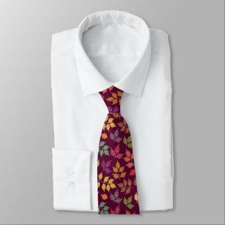 Mens Autumn Pattern Neck Tie