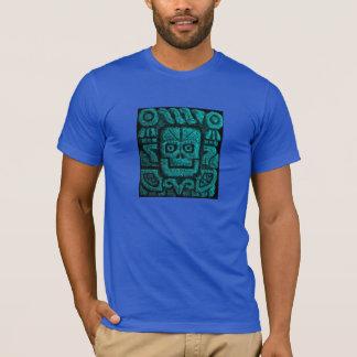 Mens Aztec temple carving shirt design