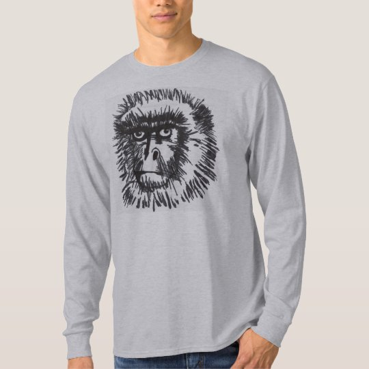 "Men's ""Baboon"" Long Sleeve T-Shirt"