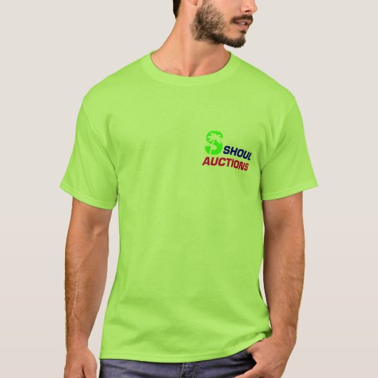 Men's Back Logo T Shirt, Lime T-Shirt