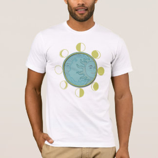 Men's Basic American Apparel T-Shirt MOON PHASES