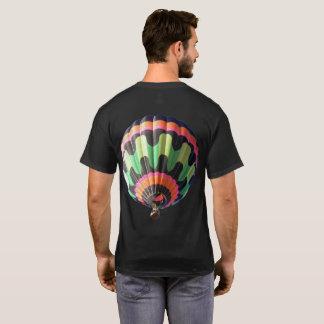Men's Basic Dark T-Shirt Flying Hot air Balloon
