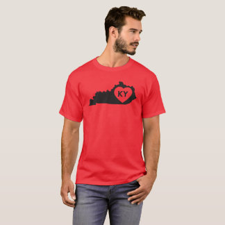 Men's Basic Dark T-Shirt I Love Kentucky State