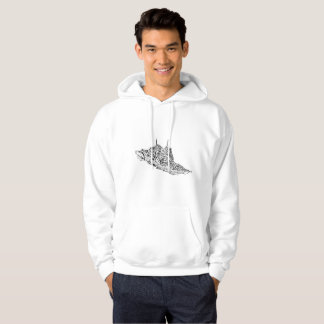 Men's Basic Hooded Sweatshirt custom drawn