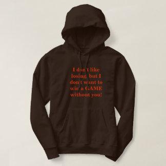 "Mens Basic Hooded Sweatshirt ""I Don't Like Losing"""