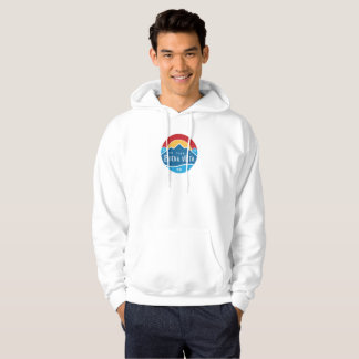 Men's basic hoodie with round logo