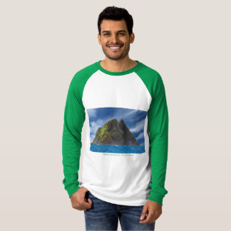 Men's Basic Ringer T-Shirt White-Green