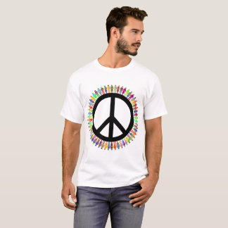 Men's Basic T-Shirt peace symbol motive