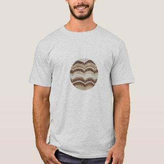 Men's basic T-shirt with beige mosaic