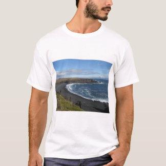 Men's Basic T-Shirt With Icelandic Beach