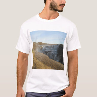 Men's Basic T-Shirt With Waterfal Picture