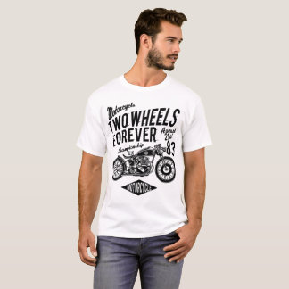 mens basic tshirt - two wheels forever motorcycle