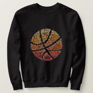 Mens Basketball Sports Game Sweatshirt Black