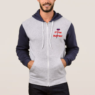 Men's Bella+Canvas Full-Zip Hoodie with print.