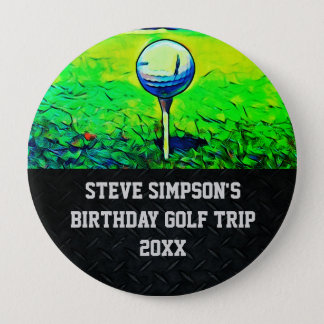 Men's Birthday Golfing Trip Pins with Year