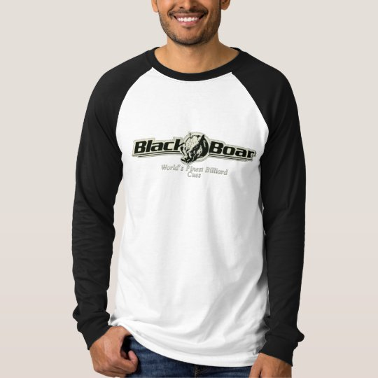 Men's Black Boar Custom Cues Long Sleeve Raglan Sh T-Shirt