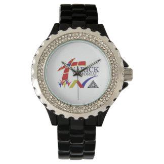 Men's Black Enamel Watch: Varick Memorial AMEZ Wristwatch