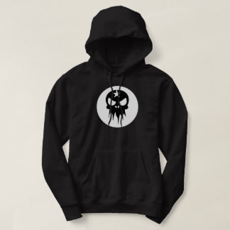 Men's Black Hoody with Skull Logo