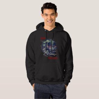 Mens Black Judged Skull hoodie