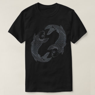 Mens Black Koi Pisces Tee
