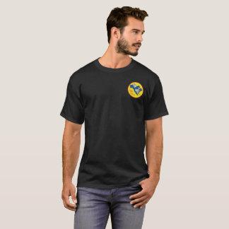 Mens Black Pocket Logo SCNA T-Shirt