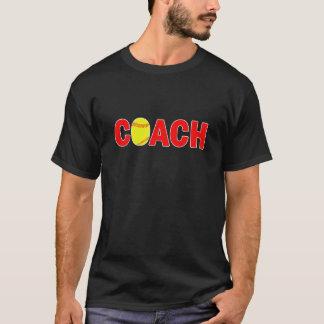 Men's Black Softball Coach T-shirt