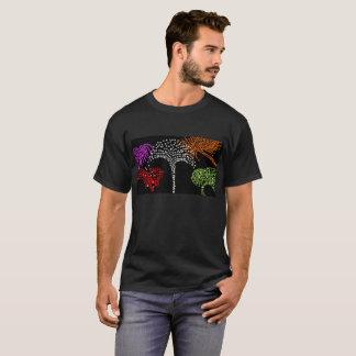 Mens black t shirt firework design