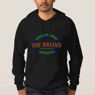 Men's Blk Fleece Pullover Hoodie w/The Bronx logo