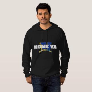 Men's Blk None Ya University Hoodie